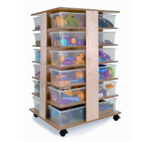24 Compartment Mobile Cubby Tower, B30505