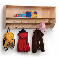 Double Row Wall Mounted Coat Rack, B30519