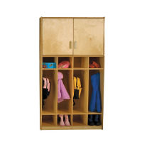 Coat Locker with Top Cabinet Storage, B34306