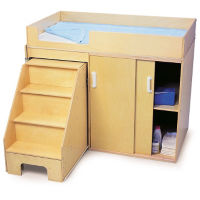Step Up Changing Table with Cabinet, P30233