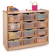 Storage Cabinet with 12 Clear Trays, P30241