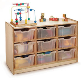 Storage Cabinet with 9 Clear Trays, P30244