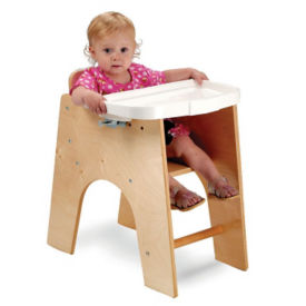"New Wave Low Highchair - 21""H, P30249"