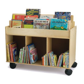 Mobile Book Storage Cart, P30333