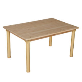 "Solid Birch Adjustable Height Table - 48"" x 24"", A11159"