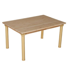 "Solid Birch Adjustable Height Table - 48"" x 30"", A11160"