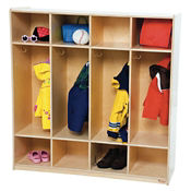 Compact Four Section Locker Unit, B32108