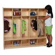 "Five Section Compact Locker Set 48""W, B32109"