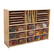 Multi-Cubby Storage Unit with Clear Trays, B34465