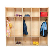 Five Section Solid Birch Locker, B34476