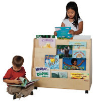 Double Sided Book Display Cart, D59010