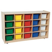 Cubbie Storage Cabinet with 20 Colored Trays, P30087
