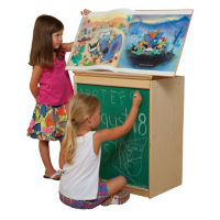 Bookcase Display with Chalkboard, P30103