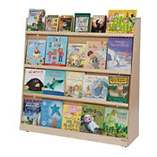 "Double-Sided Bookcase with Storage 48"" W x 15"" D x 48"" H, P30105"