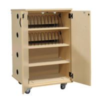 Laminate 24 Unit Charging Cart with Casters, E10025