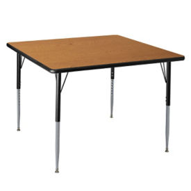 "Adjustable Height Rectangular 30"" x 48"" Activity Table with Armor Edge, A11016"