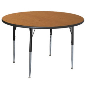 "Round Adjustable Height 48"" Activity Table with Armor Edge, A11022"