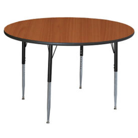 "Round Adjustable Height 60"" Activity Table with Armor Edge, A11023"