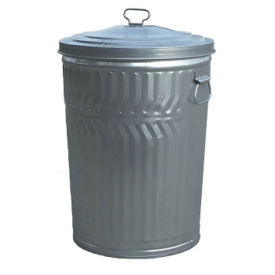 32-Gallon Galvanized Can with Lid, F10181