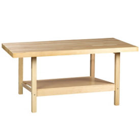"Two Person Maple Workbench with One Vice - 28"" x 64"", T11789"