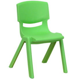 "Plastic 12""H Armless Stack Chair, C70047"
