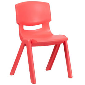 "Plastic 15.5""H Armless Stack Chair, C70049"