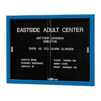 "Directory with Sliding Glass Door and Letter Panel 60"" Wide, B20395"