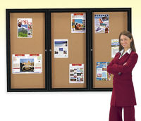 Enclosed 2-Door Bulletin Board 36x60, B20405