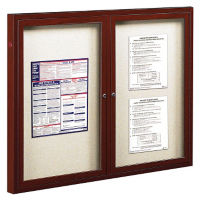 "Outdoor Bulletin Board 48""W x 36""H, B20820"