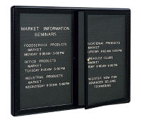 "2-Door Directory Board 48"" Wide x 36"" High, B20452"
