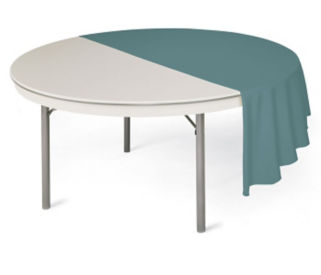 "Round Folding Table in ABS Plastic 60"" Diameter, T10520"
