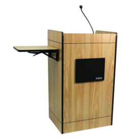 Ampli Media POD Podium with Wireless Sound Gooseneck Mic, M10211