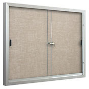Sliding-Door Bulletin Board 4'W x 3'H, B23136