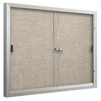 Sliding-Door Bulletin Board 5'W x 4'H, B23138