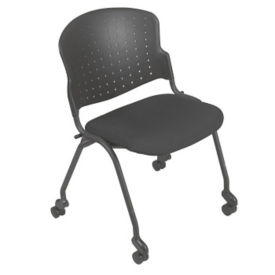 Nesting Stack Chair with Upholstered Seat, C67769