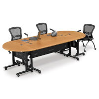 Oval Flip Top Table Set, C90052