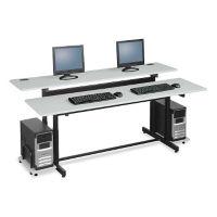 """72"""" Wide Split-Level Computer Table, D60291"""