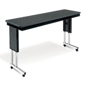"Adjustable Height Mobile Table 60""x18"", T10977"