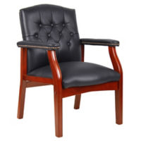 Traditional Leather Guest Chair, C80419S