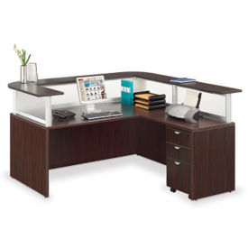 Curved Reception Desk Modern Round Receptionist Stations