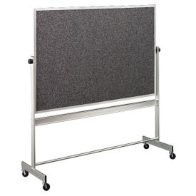 Reversible White/RubberTak Board with Aluminum Frame 5'wx4'h, B20947