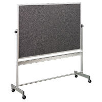 Reversible White/RubberTak Board with Aluminum Frame 6'wx4'h, B20948