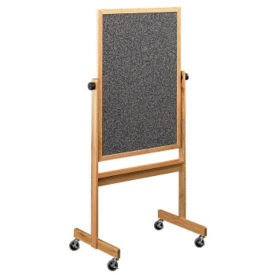Reversible White/RubberTak Board with Oak Frame 6'w x 4'h, B20951