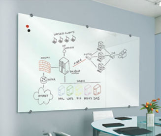 Glass Dry Erase Board 8' x 4', B23187