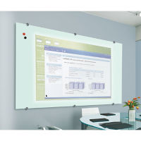 Glass Projection Dry Erase Board 4' x 4', B23188