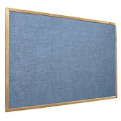 Vinyl Bulletin Board with Oak Frame 10'Wx4'H, B20968