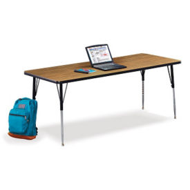 "Rectangular Child Size Adjustable Height Table - 72"" x 30"", A11146"