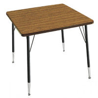 "Adjustable Height Square Activity Table 36"" Long, A10963"