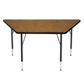 "Adjustable Height Trapezoidal Table 24"" x 24"" x 48"", A10965"