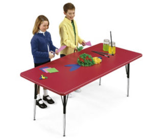 "Blow Molded Plastic Adjustable Activity Table 30"" wide x 72"" long, D41498"